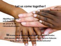 Let us come together!jan17