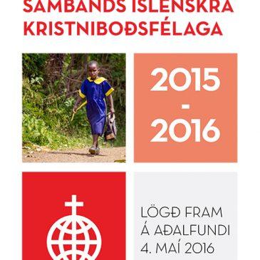STARFSSKÝRSLA SAMBANDS ÍSLENSKRA KRISTNIBOÐSFÉLAGA 2015-2016