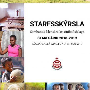 Aðalfundur SÍK, 15. maí – STARFSSKÝRSLA